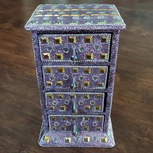 4 Drawered Tower Jewelry Box Trinket Tower
